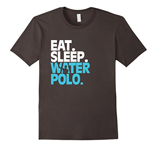 Men's This Cool Eat Sleep Water Polo Shirt Small Asphalt