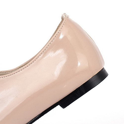 Allhqfashion Mujer's Patent Leather Pull-on Sin Talón Solid Pumps-shoes Albaricoque
