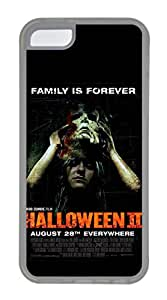 iPhone 5C Case, 5C Case - Protective Flexible Clear Rubber Case Cover for iPhone 5C Halloween 2 Movie Ultra Thin Crystal Clear Soft Rubber Case Bumper for iPhone 5C