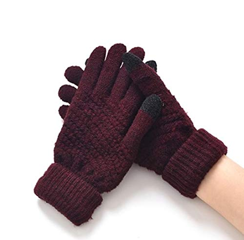 1 Pack (1 Pair) Women Knitted Winter Gloves Crochet Hand Unisex Men Boys Youth Paramount Popular Extreme Gym Football Golf Plus Screen Tactical Work Wrist Strap Dryer Touch Glove, Type-06 (Youth Football Gloves Batman)