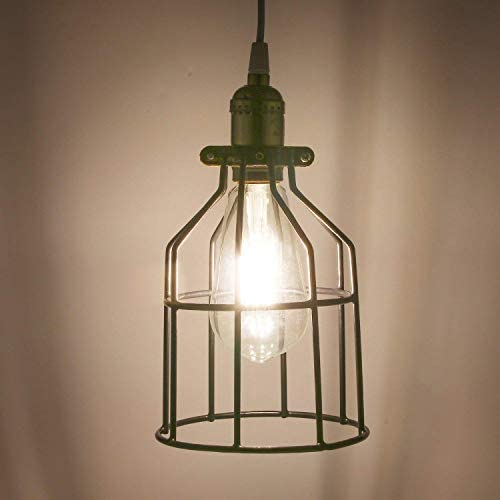 YI LIGHTING – Industrial Vintage Style Metal Lamp Guard for Pendant String Lights and Vintage Lamp Holders 4 Set Combo
