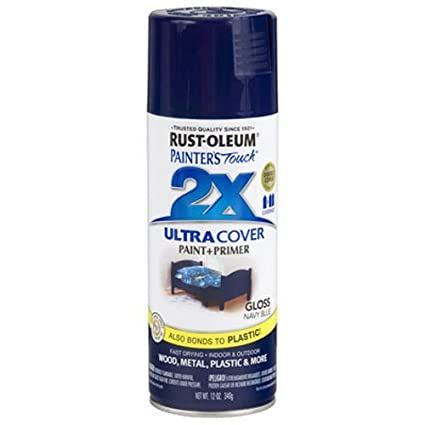 Rust Oleum 249098 Painteru0027s Touch Multi Purpose Spray Paint, 12 Ounce, Navy