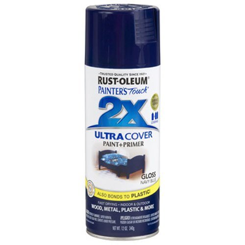 Rust-Oleum 249098 Painter's Touch Multi Purpose Spray Paint, 12-Ounce, Navy Blue (Best Navy Blue Paint Color)