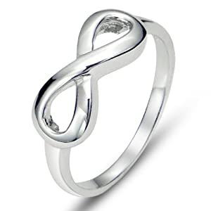 Metal Factory 925 Sterling Silver Infinity Symbol Wedding Band Ring