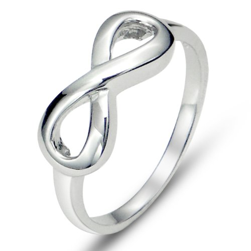 925 Sterling Silver Infinity Symbol Wedding Band Ring, Nickel Free Sz 7