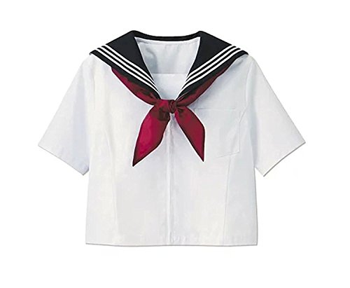 (ROLECOS Japanese School Girl Shirt Short Sleeve Sailor Uniform Shirt Short Sleeve 4 )