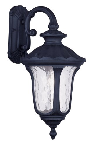 (Livex Lighting 7853-04 Oxford 1 Light Outdoor Wall Lantern, Black)