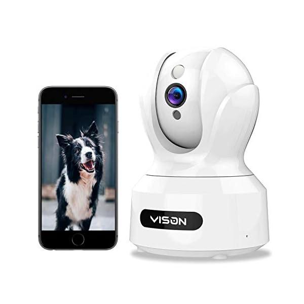 VISON WiFi Pet Camera, Full HD1080P Dog Camera,360° Pet Monitor,Indoor Cat Camera, Home Security Camera with Alexa,IR…