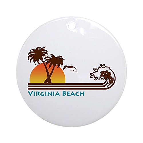 CafePress Virginia Beach Ornament (Round) Round Holiday Christmas Ornament for $<!--$25.99-->