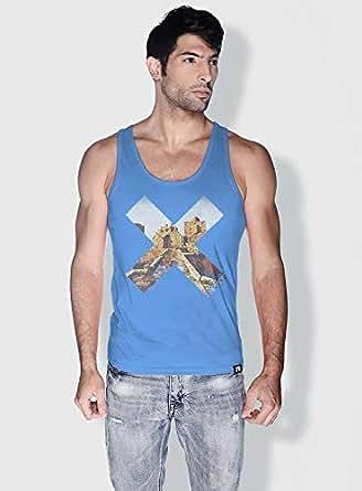 Creo Beirut History X City Love Tanks Tops For Men - Xl, Blue