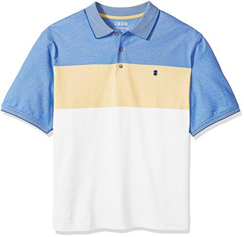 IZOD Men's Big Short Sleeve Advantage Stripe Polo (Slim), Sundress, 4X-Large Tall (Shirt Dress Rugby)