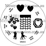 MESSY MANSION MM03 Nail Art Stamping Plate - Valentines Day