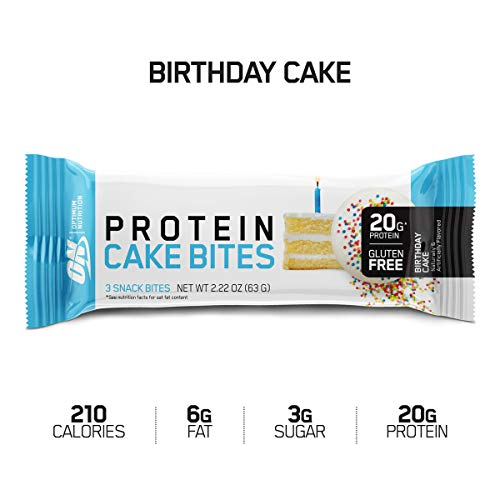 Optimum Nutrition Optimum Nutrition Protein Cake Bites/Whipped Protein Bars, Birthday Cake, 9 Count