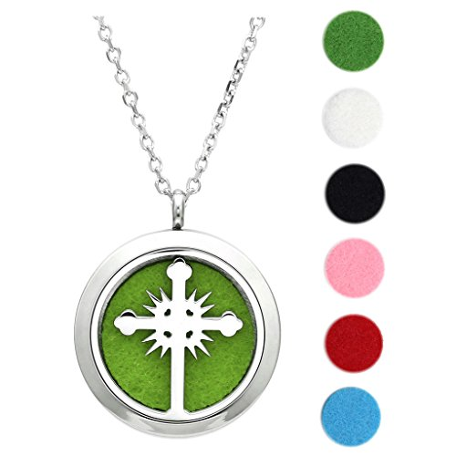 Cross aromatherapy Perfume Essential oil necklace