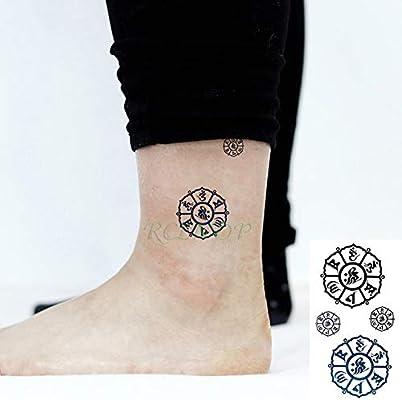 ljmljm 6pcs Impermeable Etiqueta engomada del Tatuaje de Peligro ...