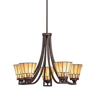 Kichler Lighting 66054 5 Light Morton Chandelier, Olde Bronze