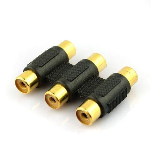 TLONiX 3 RCA Video Audio hembra a hembra F/F conector acoplador adaptador extensor higroscópico: Amazon.es: Electrónica