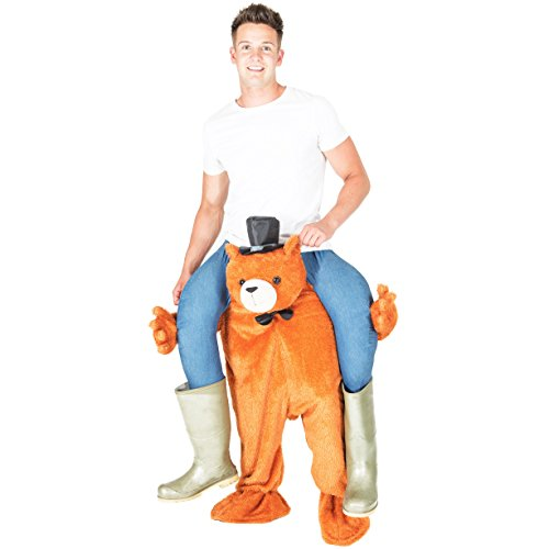 Teddy Bear Costumes Adult (Bear Piggyback Ride Me Stuffed Carry On Adult Teddy Fancy Dress Costume)