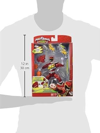 Power Rangers Dino Charge - Figura de acción Raptor Zord, Color Rojo (Bandai 42176)