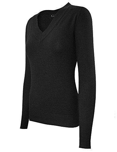 cielo-womens-solid-pattern-v-neck-pullover-xlarge-black