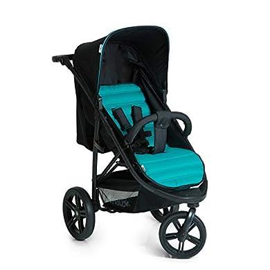 Hauck Rapid 3 - silla de paseo de 3 ruedas con posiciones en respaldo, plegado compacto, plegando con solo una mano, manillar regulable, desde nacimiento hasta 25kg, caviar turquoise (negro, azul) a buen precio