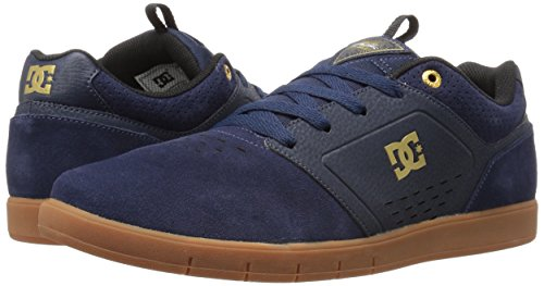 DC Men's Cole Signature Skateboarding Shoe, Navy/Gum, 11 M US