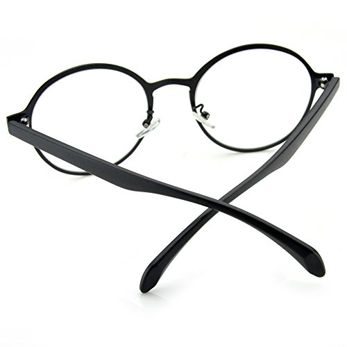 2957a50f66f PenSee Oval Round Circle Eye Glasses Large Oversized Metal - Import It All