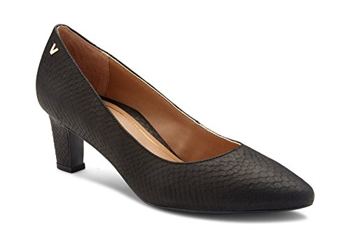 Vionic Women's Madison Mia Heels - Ladies Pumps with Concealed Orthotic Support Black Snake 8 M US