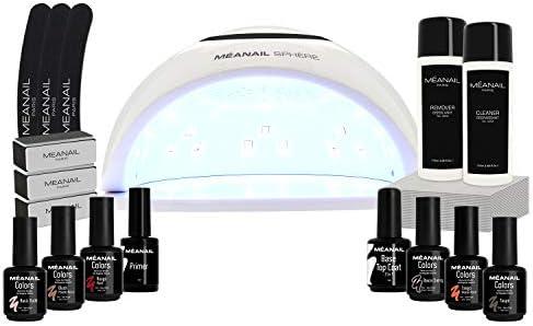 Kit Manicura Semipermanente, Secador de Uñas Lampara LED UV Uñas 48W, 6 Esmaltes Semipermanentes, Base Coat Top Coal, Kit Uñas de Gel Completo - Cruelty free, Méanail Paris: Amazon.es: Belleza