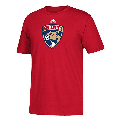fan products of NHL Florida Panthers Adult Unisex Primary Logo Stand Out S/Tee, Medium, Red