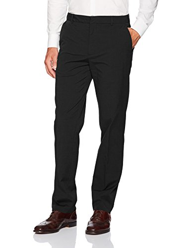 - Van Heusen Men's Flat Front Oxford Chino, Dark Black, 33W x 30L