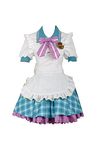 Yejue LoveLive Kurosawa Ruby Dress Valentine's Day Unawakened Maid Coffee Girls Skirt