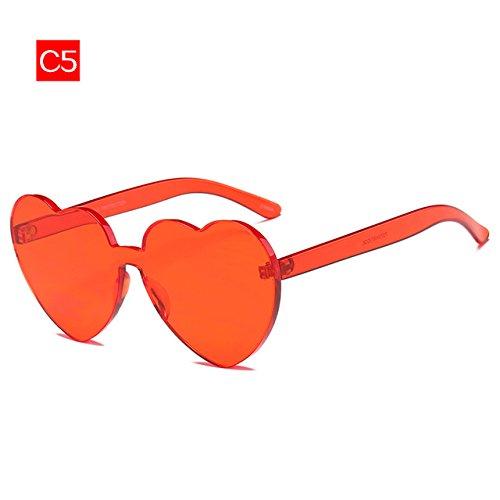 Sobredimensionado Color Gafas De De 2 Gafas Mujer Forma Sol Gafas Sol 5 Solamor Candy Sin De De Cerco Gafas Señoras Nuevas Limotai En Corazón BRS1UnqqZ