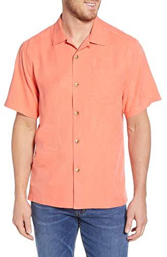 Tommy Bahama Al Fresco Tropics Silk Camp Shirt (Color: Lt Havana, Size ()