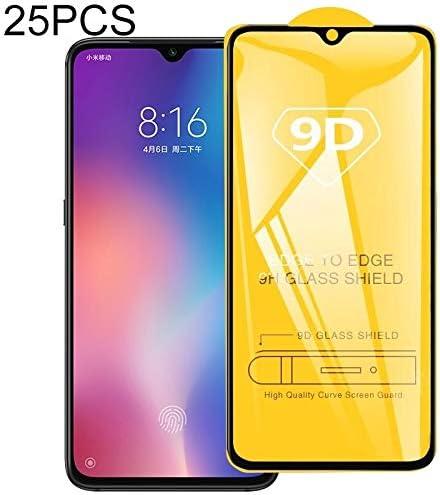 GUOHUN Screen Protector Protective 25 PCS 9H 5D Full Glue Full Screen Tempered Glass Film for Xiaomi Mi 9 Glass Film
