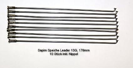 Rayon sapim leader 13 g 178 mm pour bIFS 1f crois/é 26 lot de 10 rayons avec raccord