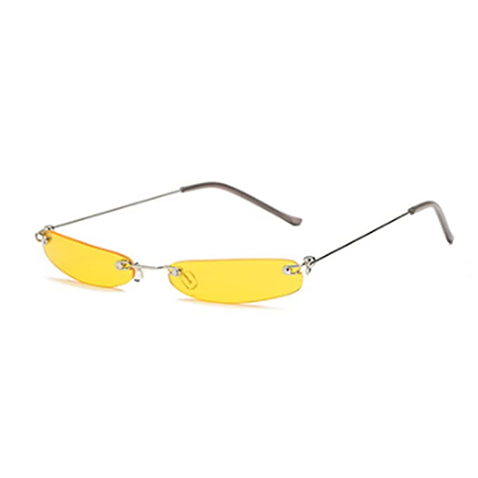 Aiweijia Gafas de sol Vintage Rectangular Metal sin montura ...