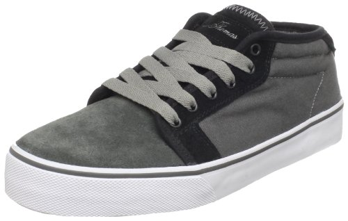 Fallen Men's Forte Mid Skate Shoe,Black/Charcoal,8.5 M US