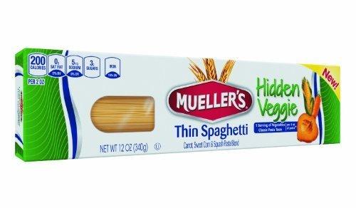 Mueller's Thin Spaghetti Hidden Veggie 12 Oz (Pack of 6)