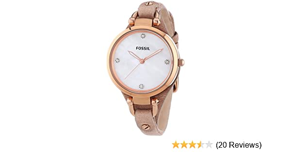 Amazon.com: Fossil Womens ES3151 Georgia Analog Display Analog Quartz Beige Watch: Fossil: Watches