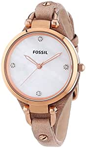 Fossil Women's ES3151 Georgia Analog Display Analog Quartz Beige Watch