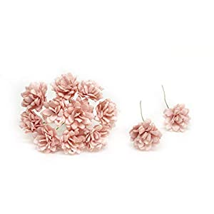 2cm Light Pink Blush Paper Flowers Baby's Breath Artificial Flowers Fake Flowers Paper Craft Flowers Mulberry Paper Flowers, 50 Pieces 109