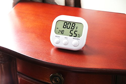 Indoor Thermometer Hygrometer Amp Desktop Clock Easy To