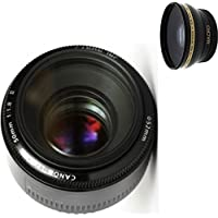 Canon 50mm 1.8 II Lens + High Definition Wide Angle Auxiliary Lens