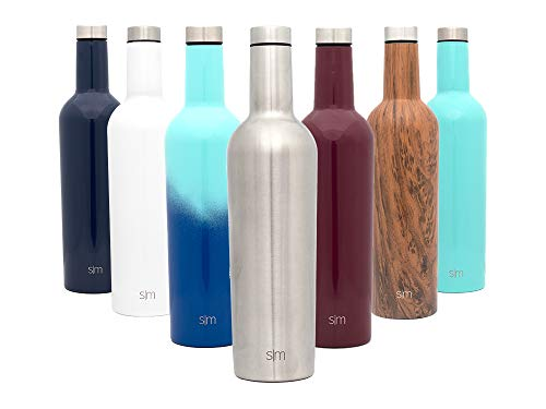 - Simple Modern Spirit 25oz Wine Bottle - Double Wall, Vacuum Insulated Wine Bottle with Leak Proof Lid - 18/8 Stainless Steel Simple Stainless