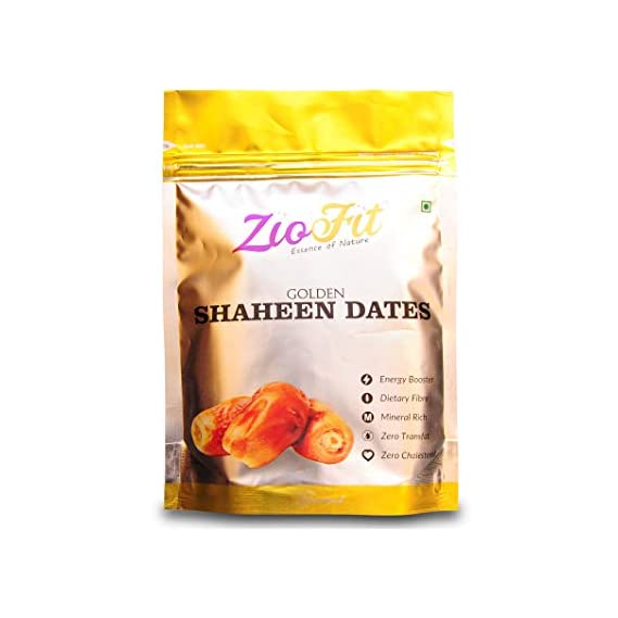 Ziofit Golden Shaheen Dates, 250g (Buy 1 Get 1 Free)