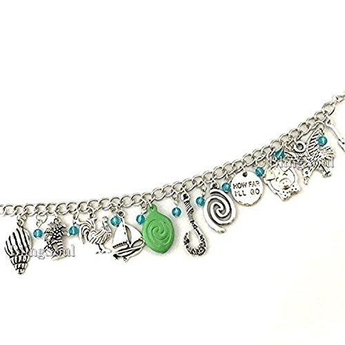 BlingSoul Maui Moana Charm Bracelet - Maui Hook Jewelry Moana Gift Merchandise for Women by BlingSoul (Image #4)'