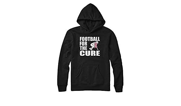 Pullover Hoodie Teely Shop Womens Pink Ribbon Football Breast Cancer Awareness Support Gildan