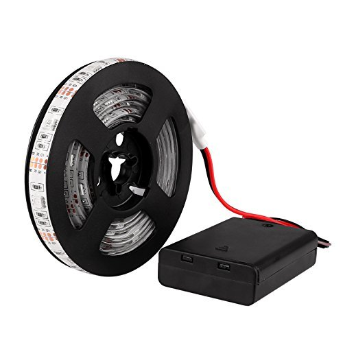 Battery powered RGB 5050 LED Strip Light Lamp Waterproof Grow Plant Light High Density with Control Box -