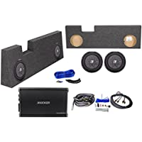 10 Kicker Subwoofers+Amp+Box For 2004-16 Ford F250/350/450 Super Duty Crew Cab
